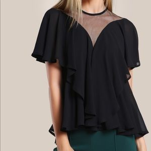 Mesh cut out flounce top size medium